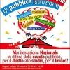 napoli 30 ottobre – un'eruzione di pubblica istruzione – la manifestazione nazionale dei precari della scuola