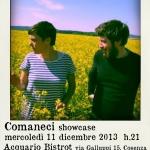 L'Ora di Italiano – Mercoledì 11 Dicembre, Comaneci showcase @ Acquariobistrot