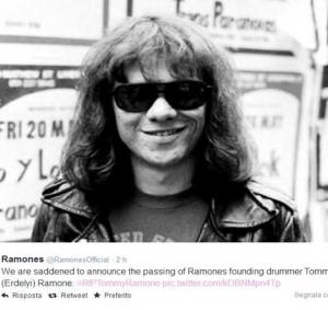 Ciao Tommy Ramone, ultimo dei Ramones
