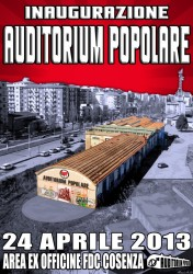 manifesto inaugurazione auditorium popolare