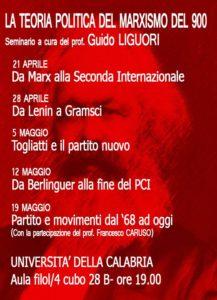La teoria politica del marxismo del '900 (ciclo di seminari) @ aula filol 4 cubo 28/b   Arcavacata, Rende   Calabria   Italia