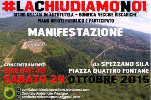 #Lachiudiamonoi: sabato 24 ottobre tutti in Presila!