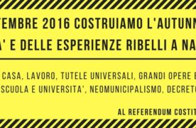 3/4 Settembre 2016 Assemblea Nazionale Napoli