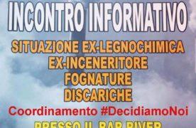 Ex-Legnochimica: il 20 ottobre incontro informativo promosso dal coordinamento #DecidiamoNoi (AUDIO).