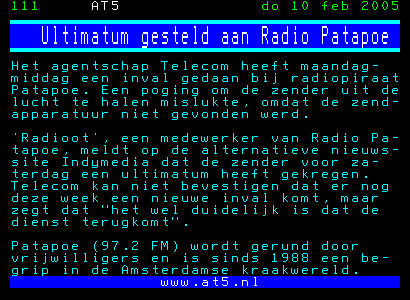 ultimatum a radio patapoe