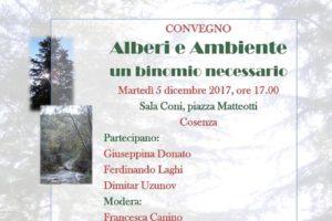 Alberi e ambiente: oggi convegno a Cosenza.