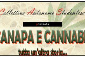 """Cosenza: il 28 dicembre l'evento """"CANAPA E CANNABIS tutta un'altra storia""""."""