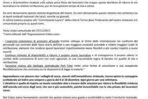 Da Lecce all'Italia: quando il padrone è lo stesso,la lotta è comune(AUDIO).