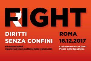 """Roma, """"Diritti senza confini"""": il 16 dicembre manifestazione nazionale. Pullman anche dalla Calabria."""