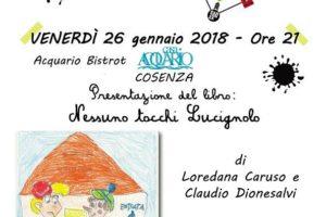 """Teatro dell'Acquario:il 26 Gennaio presentazione del libro """"Nessuno tocchi Lucignolo""""."""