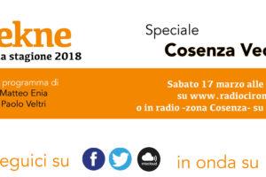 """Ciroma: sabato 17 marzo speciale """"Tekne"""" su Cosenza vecchia"""