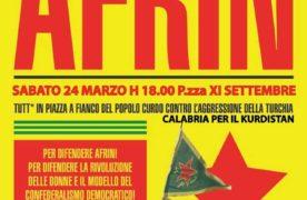 Cosenza: sabato in piazza per Afrin. Mobilitazioni in tutto il mondo