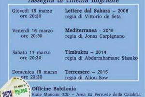 CinemaInMensa: rassegna di cinema migrante dal 15 al 18 marzo