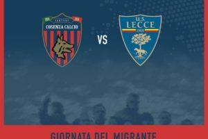 """Cosenza calcio: il 19 marzo """"Giornata del Migrante"""""""