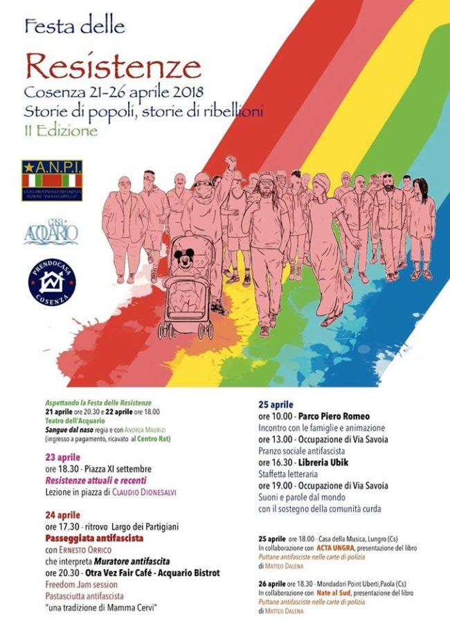 """Cosenza: sabato la presentazione della """"Festa delle Resistenze"""""""