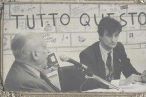 Gicomo Mancini negli studi di Radio Ciroma commenta l'attentato a Giovanni Falcone