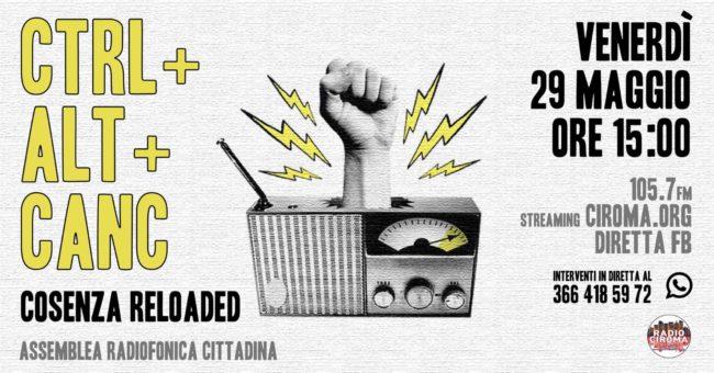 CTRL+ALT+CANC Cosenza Reloaded: Assemblea Cittadina